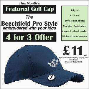 4 for 3 Offer on Featured Golf Cap