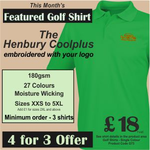 4 for 3 Special Offer on Featured Golf Shirt