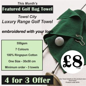 4 for 3 Offer on Featured Golf Bag Towel