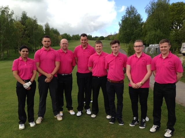 Adam Arnold sent this golf group photo, in fetching pink golf shirts, from the Wharton Park Golf Club, Bewdely in Worcestershire where his colleaugues were competing for the Sirkhot Cup.  Thanks Adam