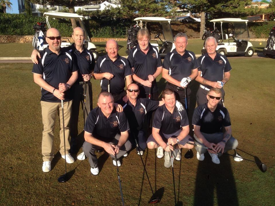 The Spiders Web Golfers enjoying the sun on their Spain tour