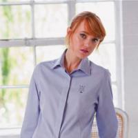Women's long sleeve lightweight Oxford Blouse