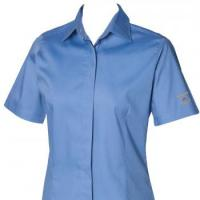 Women's short sleeved lightweight Oxford shirt