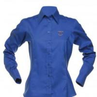 Women's long sleeved Oxford blouse
