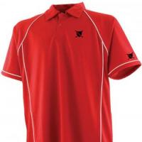 Piped performance mens golf polo shirt