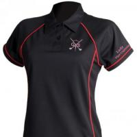 Women's piped performance polo shirt