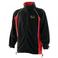 Piped microfleece jacket