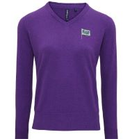Womens Cotton Blend V Neck Sweater